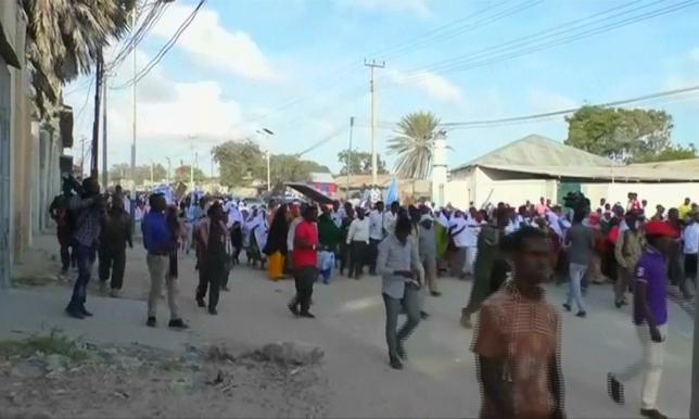 Шартарап: Сомали халқы лаңкестікке қарсы шеруге шықты