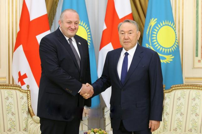 Мемлекет басшысы Нұрсұлтан Назарбаев Грузия Президенті Георгий Маргвелашвилимен кездесті