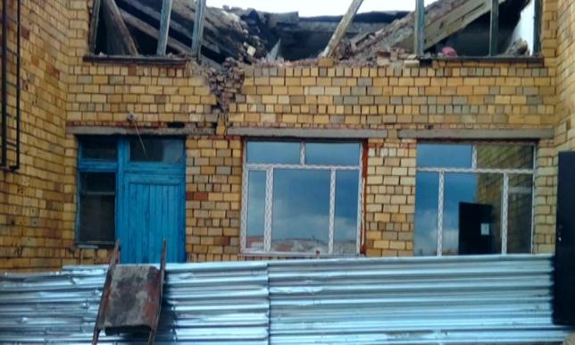 В Карагандинской области выясняют причины обрушения конструкции здания школы