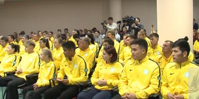 Казахстанскую команду проводили на юношеские Олимпийские игры