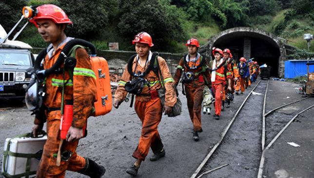 В КНР из-за обвала на шахте семь человек оказались заблокированы под землей