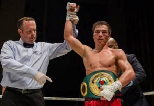 Қазақстандық боксшы Батыр Жүкембаев Сондерс-Лемье бокс кешінде жеңіске жетті