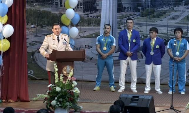 В МВД РК прошло чествование динамовцев-призеров летних Олимпийских игр в Рио-де-Жанейро