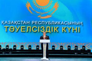 Н.Назарбаев принял участие в торжественном приеме по случаю празднования Дня Независимости РК