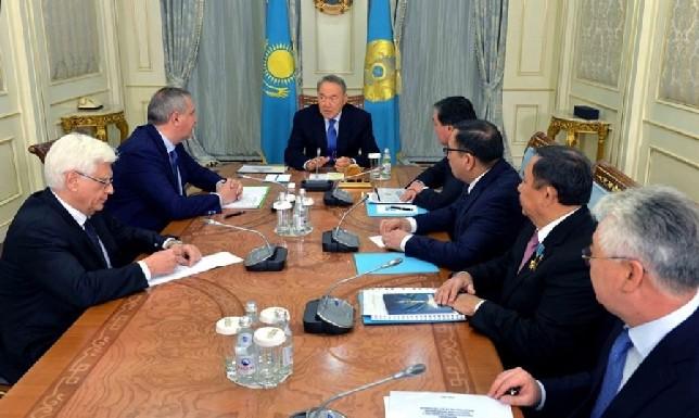 Елбасы Ресей Федерациясы Үкіметі төрағасының орынбасары Дмитрий Рогозинмен кездесті