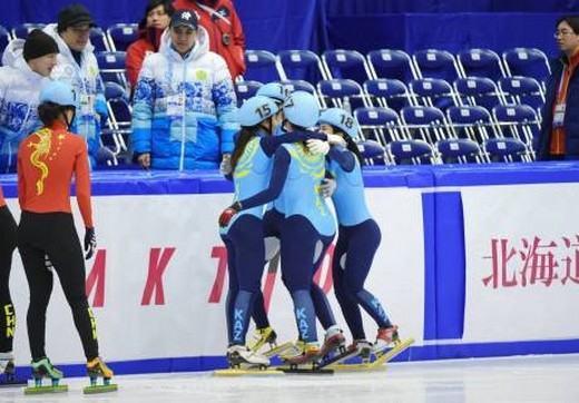 Женская сборная Казахстана по шорт-треку завоевала «бронзу» на Азиаде-2017