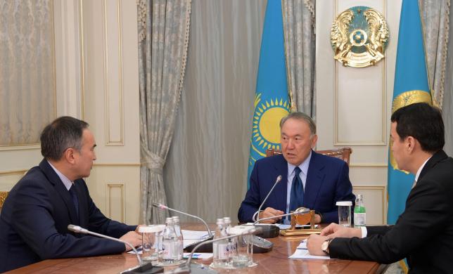 Глава государства провел встречу с заместителем Премьер-Министра – министром сельского хозяйства А.Мырзахметовым