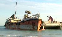 Каспий теңізінде қайраңдап қалған Ресей кемесінің иелері іздестіріліп жатыр