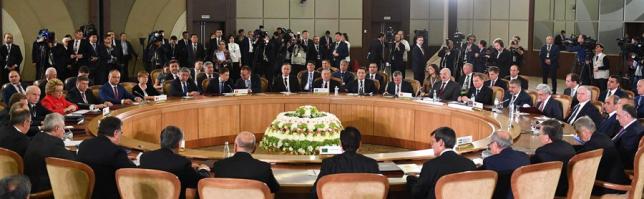 Н.Назарбаев принял участие в заседании Совета глав государств СНГ в расширенном составе
