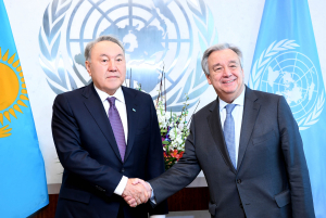 Н.Назарбаев и А.Гутерриш обсудили вопросы, связанные с председательством Казахстана в СБ ООН