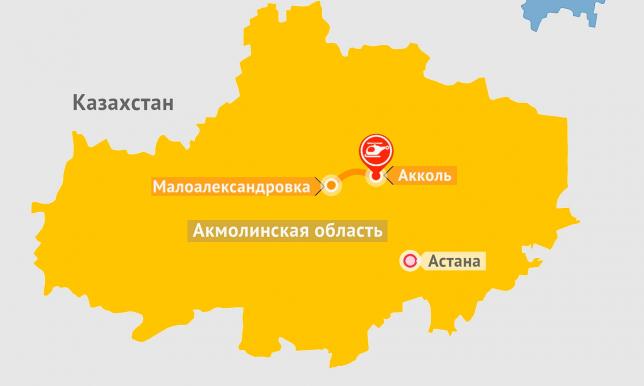 Вертолет сгорел полностью после жесткой посадки в Акмолинской области