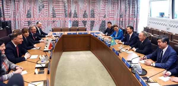 Нурсултан Назарбаев встретился с Президентом Республики Польша Анджеем Дудой