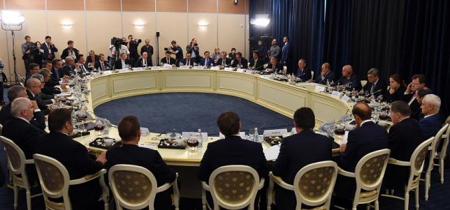 Президенты РК и РФ провели встречу с представителями деловых кругов Германии