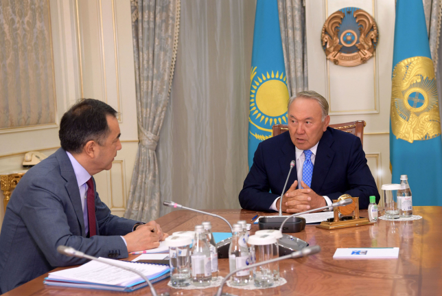 Б.Сагинтаев представил Главе государства отчет по реализации программы индустриализации