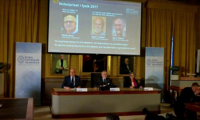 В Стокгольме объявлены лауреаты Нобелевской премии по физике