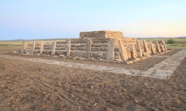 Қаражартас қорымынан табылған Сарыарқа пирамидасы қалыпқа келтірілді