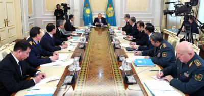 Мемлекет басшысының төрағалығымен Қауіпсіздік Кеңесінің отырысы өтті