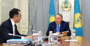 Н.Назарбаев провел встречу с Премьер-Министром Б.Сагинтаевым