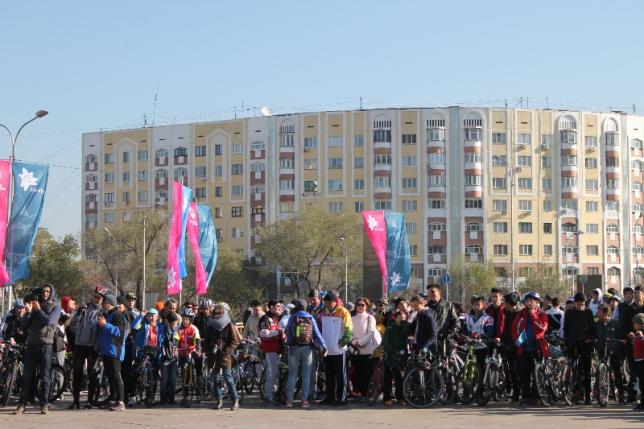 В Алматы состоялся 19-ый массовый велопробег