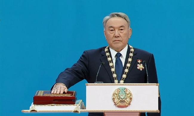 Торжественная церемония инаугурации Президента Республики Казахстан Нурсултана Назарбаева
