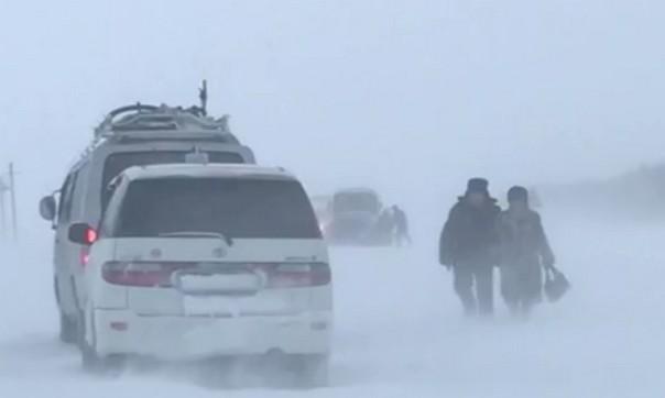 На Павлодарском участке казахстанско-российской границы застряли полсотни машин