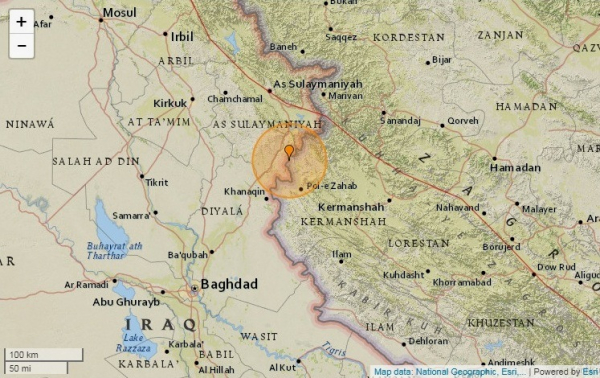 Иран мен Ирактың шекарасында жер сілкінісі болды