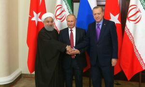 Будущее Сирии обсудили на трехсторонней встрече президенты России, Турции и Ирана