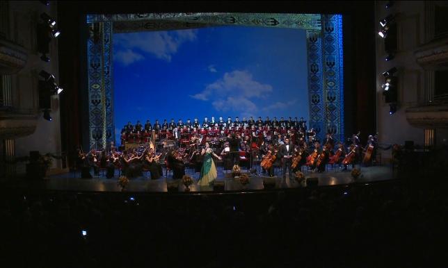 Елордада Жеңіс күніне арналған концерт өтіп жатыр