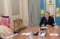 Н.Назарбаев Сауд Арабиясының ішкі істер министрі Әбдел Әзиз бен Сауд бен Наифты қабылдады