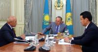 Н.Назарбаев провел встречу с председателем правления АО «Самрук-Казына» Умирзаком Шукеевым