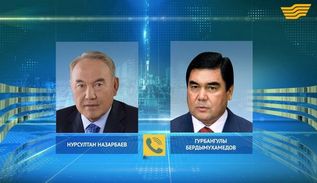 Глава государства провел телефонный разговор с Президентом Туркменистана Г.Бердымухамедовым