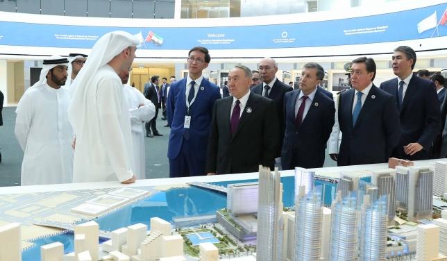 Глава государства посетил свободную финансовою зону Abu Dhabi Global Market