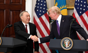 Қазақстан Президенті Нұрсұлтан Назарбаев АҚШ Президенті Дональд Трамппен кездесті