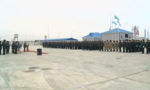 Каспийде әскери борышын өтеген 62 матрос үйіне оралды