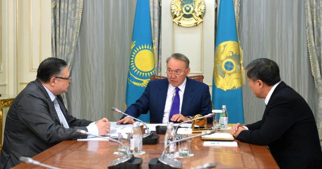 Н.Назарбаев провел встречу с А.Джаксыбековым и М.Тажиным