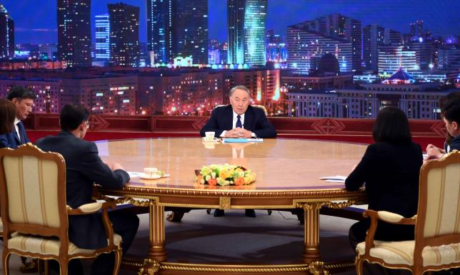Интервью Главы государства Нурсултана Назарбаева представителям республиканских СМИ