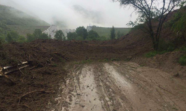Оползень сошел в Талгарском районе Алматинской области