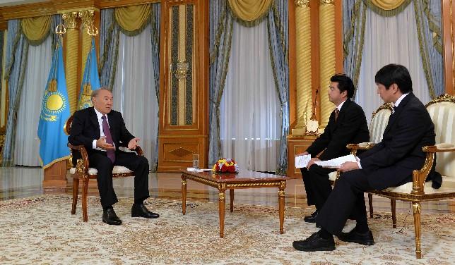 Интервью Н.Назарбаева телерадиовещательной корпорации NHK и информационному агентству «Киодо Цусин»