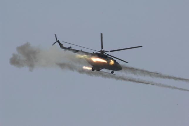 Летчики армейской авиации сдают итоговую проверку за 2017 год