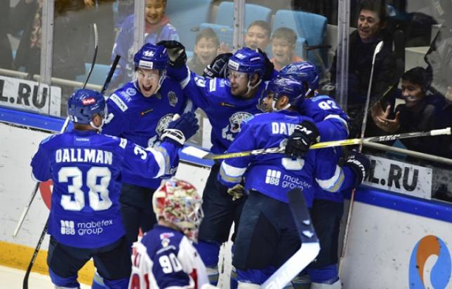 Астанинский «Барыс» переиграл московский ЦСКА в матче КХЛ