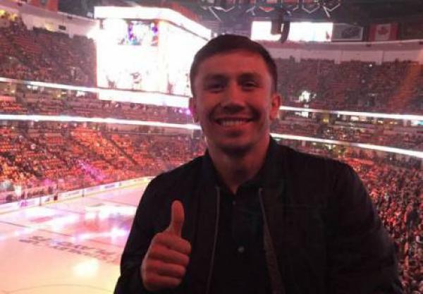 Геннадий Головкин посетил Матч звезд КХЛ в Астане