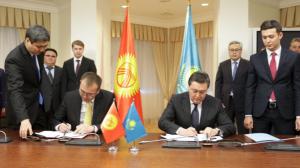 Казахстан и Кыргызстан подписали Дорожную карту по вопросам двустороннего сотрудничества