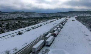 Мексику засыпало снегом