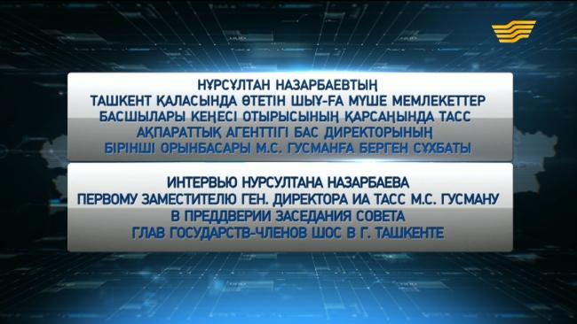 Интервью Нурсултана Назарбаева первому заместителю ген. директора ИА ТАСС М.С. Гусману