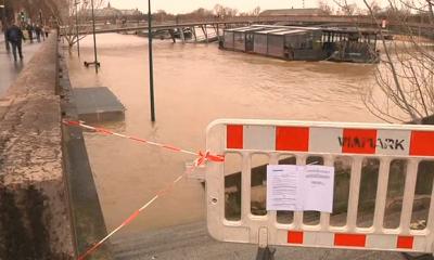 Обильные осадки во Франции вызвали масштабные наводнения