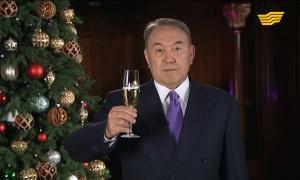 Нурсултан Назарбаев поздравил казахстанцев с Новым 2016 годом