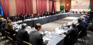 Глава государства провел встречу с деловыми кругами США