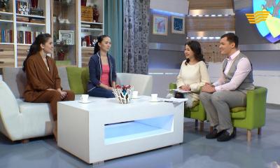 «Жаңа күн». Актрисы Гульдария Дуйсенова и Лейла Тлеуова