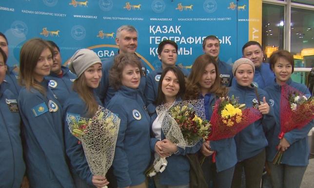 В Казахстан вернулась экспедиция «Полюс Независимости»