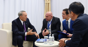 Президент Казахстана провел встречу с председателем правления компании «Yildirim Holding»